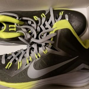 Lime and Gray Nike Sneakers